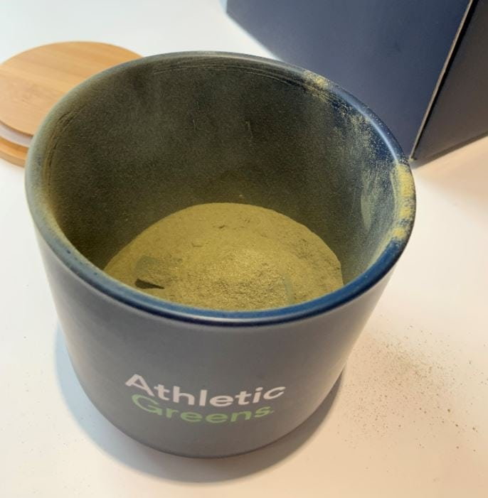powdered greens supplement by athletic greens